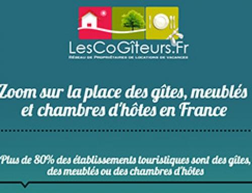 Infographie :: La place des gîtes et chambres d'hôtes en France