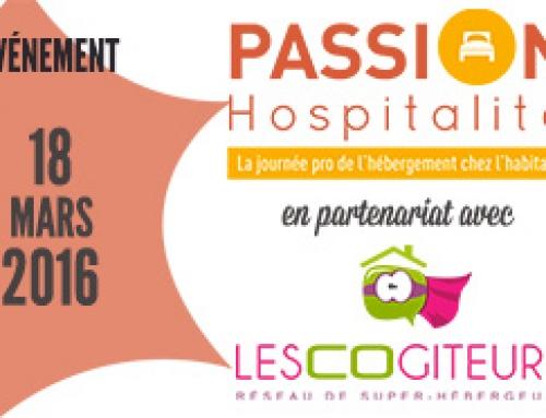 LesCoGîteurs partenaire du colloque Passion Hospitalité 2016
