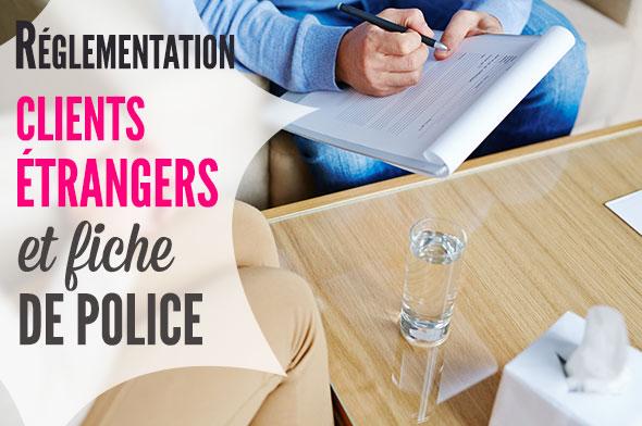 vacanciers étrangers et fiche de police