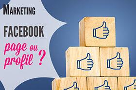 différence page et profil facebook