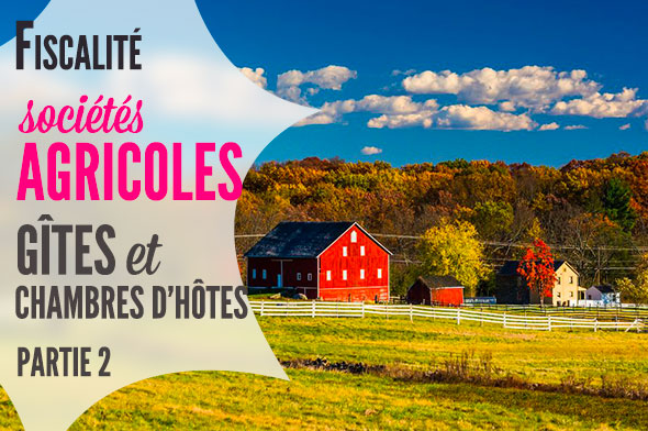 Gîtes ruraux, chambres d'hôtes et associés de sociétés agricoles - fiscalité
